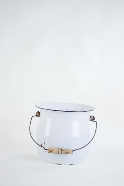 white metal pail