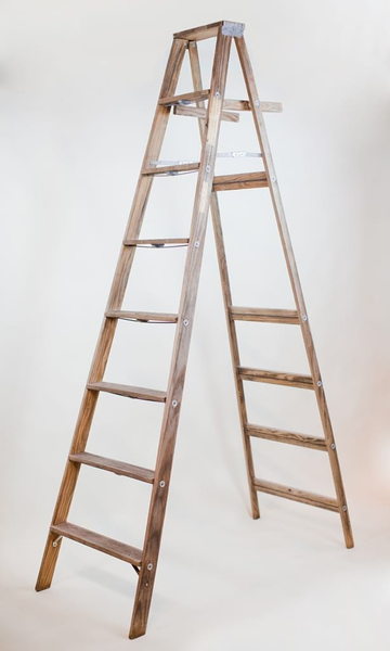 8' wooden A-frame ladder