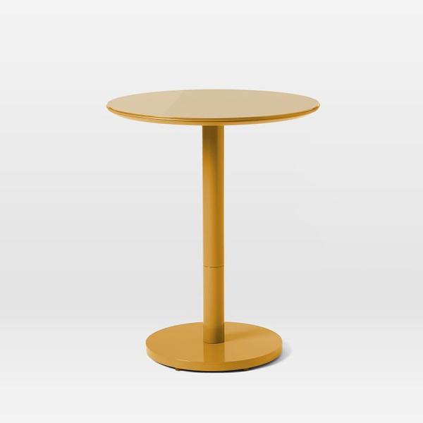 coban bistro table - mustard