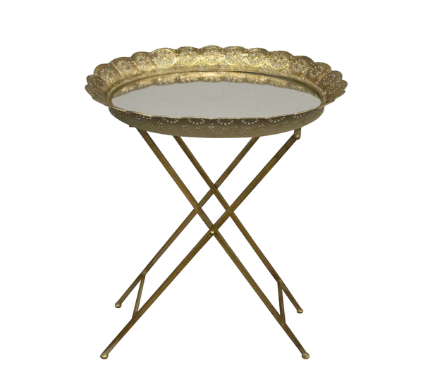 Petra Mirrored Side Table