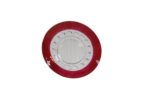 Ruby Kings Crown Thumbprint-Salad Plate
