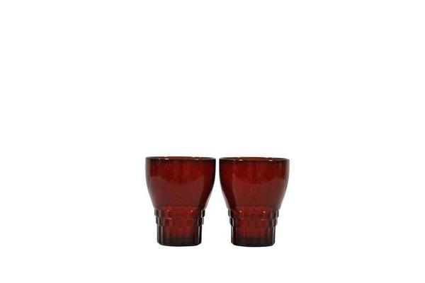 Red Bump Glasses Pair