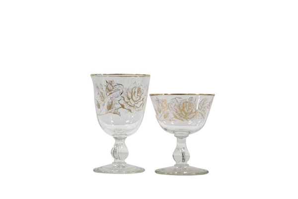 Rose Water & Wine Goblet Set