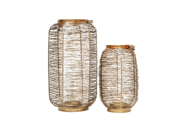 Ellis Copper Lanterns (Pair)