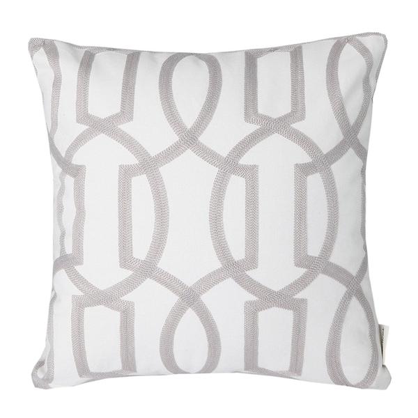 Gab Gray Geometric Pillow