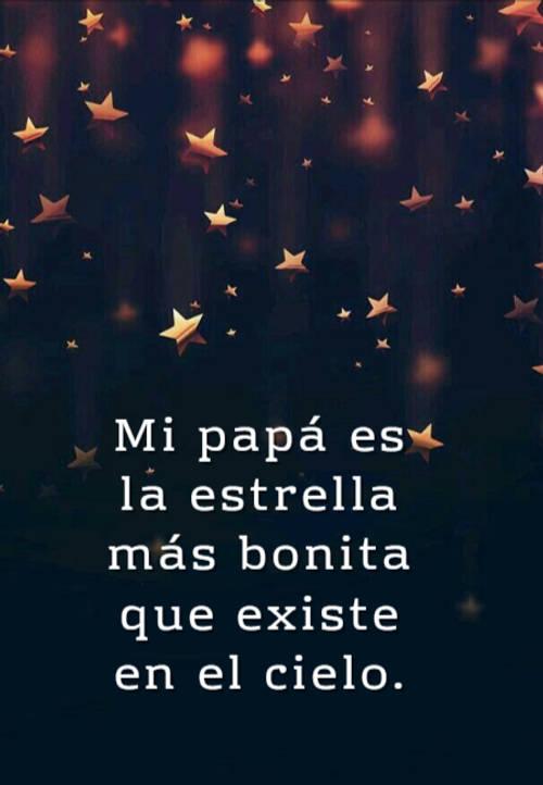 Frases para el Día del Padre - Mi papá es la estrella más bonita que existe en el cielo.