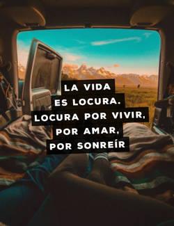 La vida es locura. Locura por vivir, por amar, por sonreír