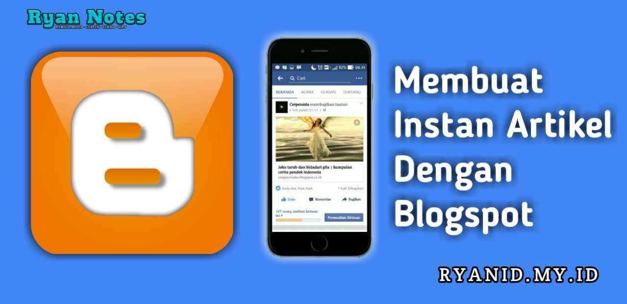 Cara membuat artikel instan facebook dengan Blogger