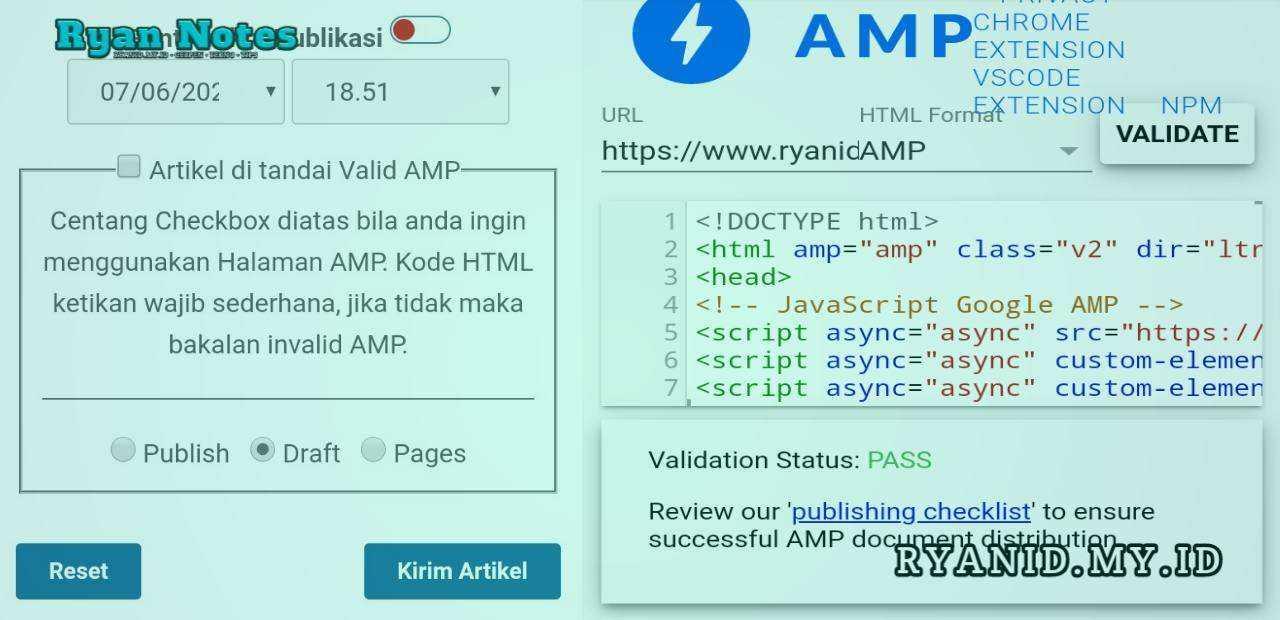 FileBase cms akhirnya valid amp