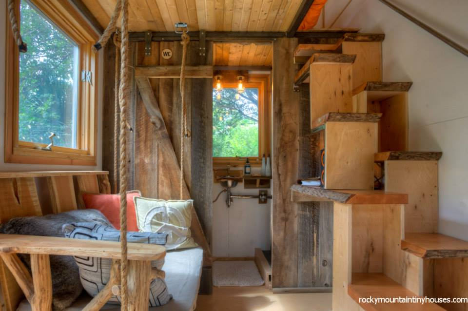 rocky mountain tiny house 6 - New rustic dwelling from Rocky Mountain Tiny Houses