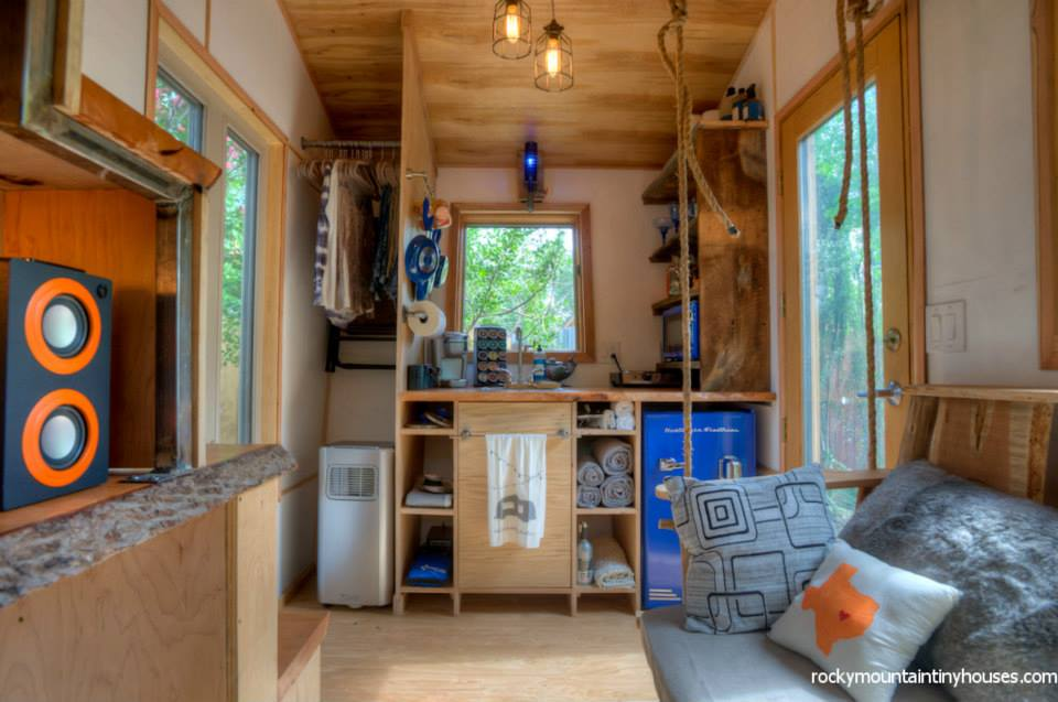 rocky mountain tiny house 8 - New rustic dwelling from Rocky Mountain Tiny Houses