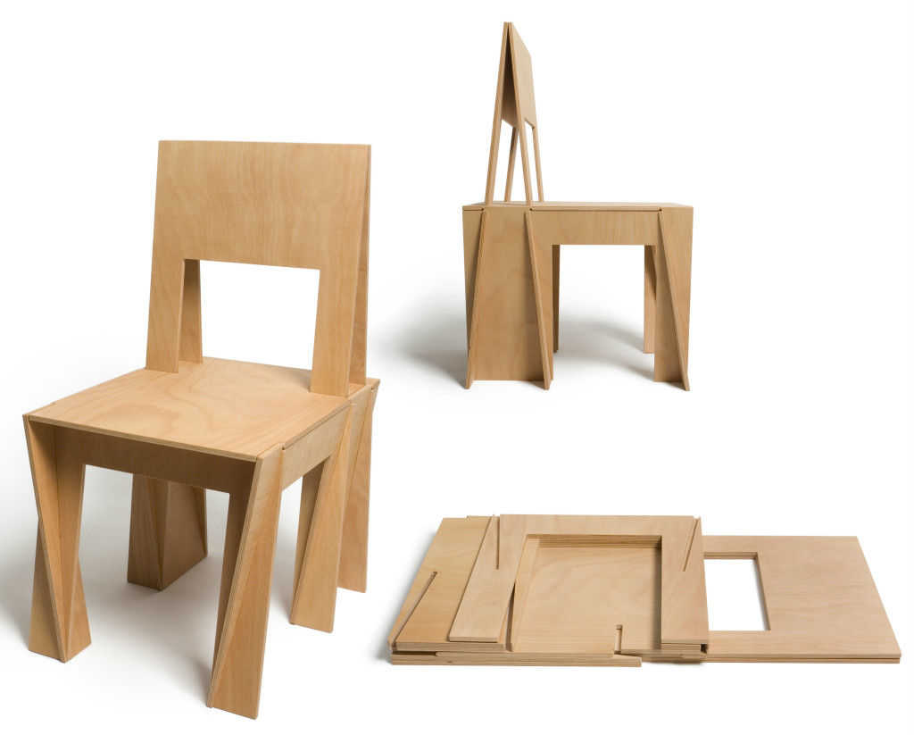 The VIC Chair Is Inspired By Interlocking Burr Puzzles. It Consists Of 6  Plywood Elements. All Parts Stay Together Without The Need Of Glue And  Nails.