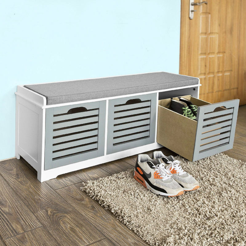 shoe storage bench - 14 great ways to store your shoes