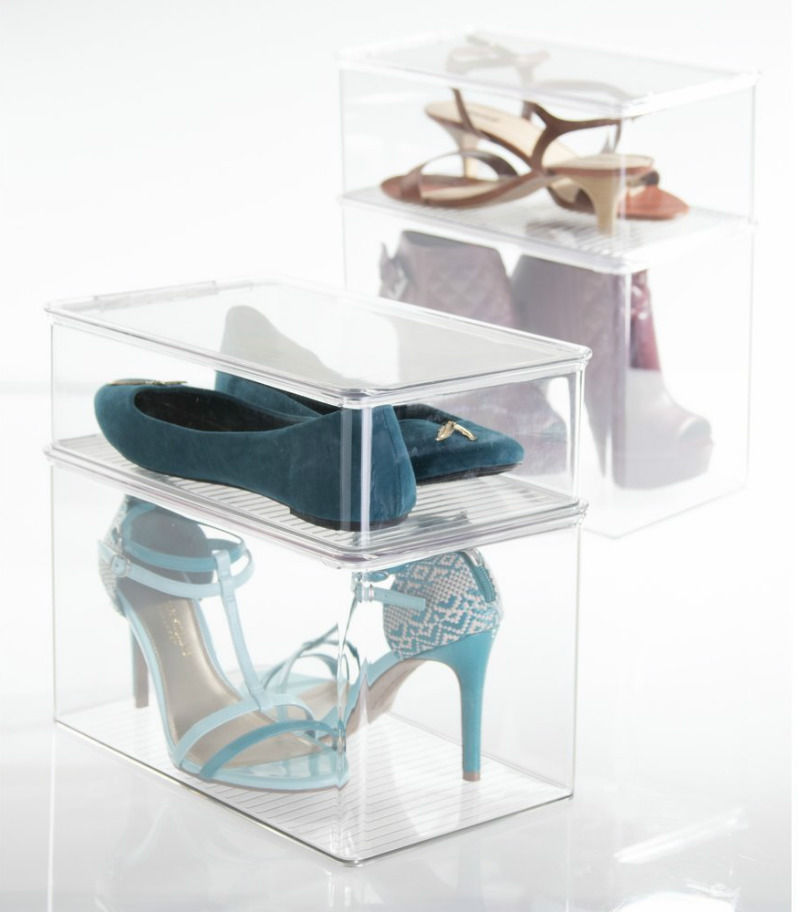 shoe storage transparant boxes - 14 great ways to store your shoes