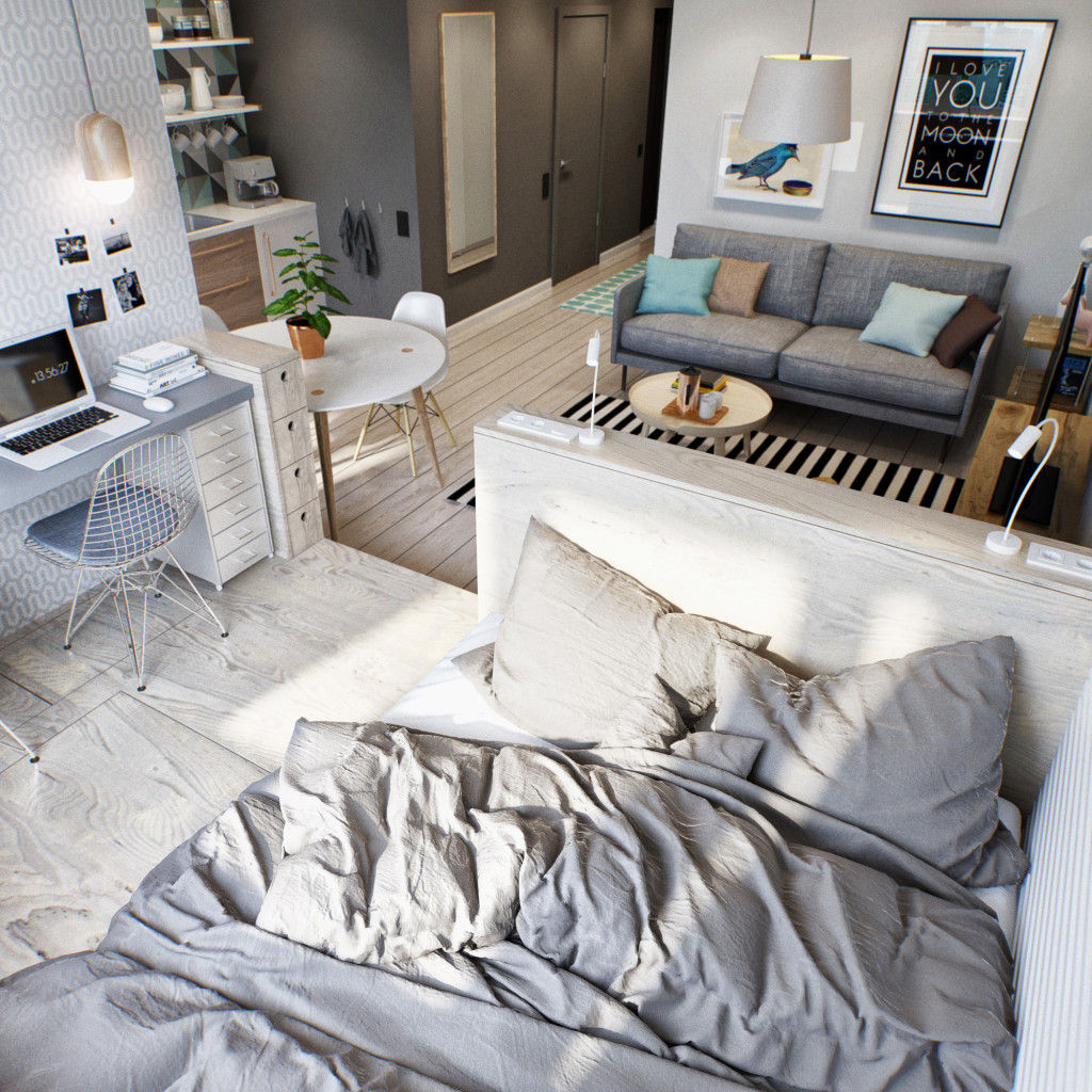 4 - This 430 ft² Russian apartment proves that great style doesn't always come in big packages