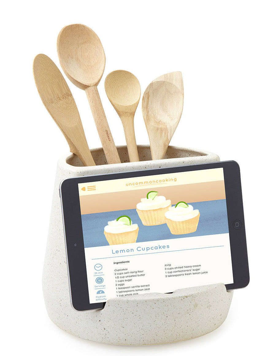 Kitchen Utensil and Tablet Holder - Declutter your kitchen with these 10 space-saving ideas