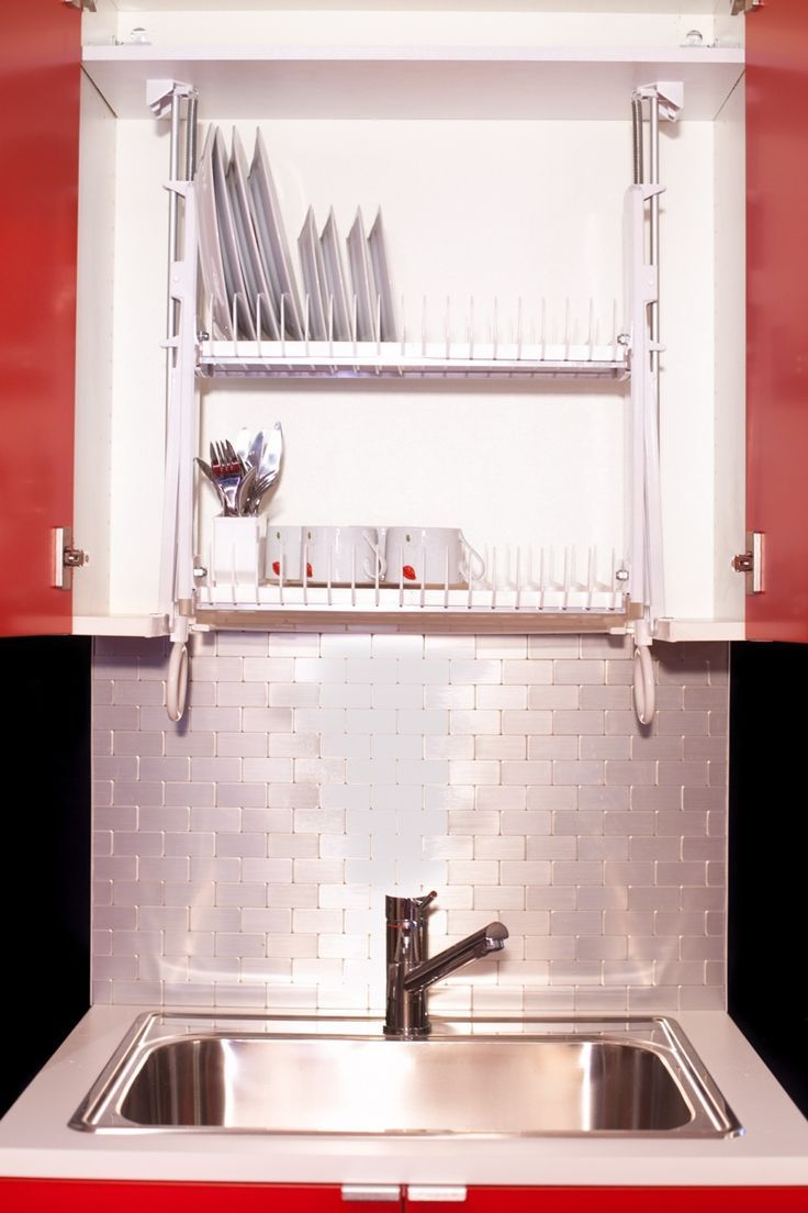 The Drip Dry Stainless DDS30 Cabinet Dish Rack Is Made Of Stainless Steel  And Built With Two Levels Of Self Draining Dish Racks With A Top Rack Pull  Down.