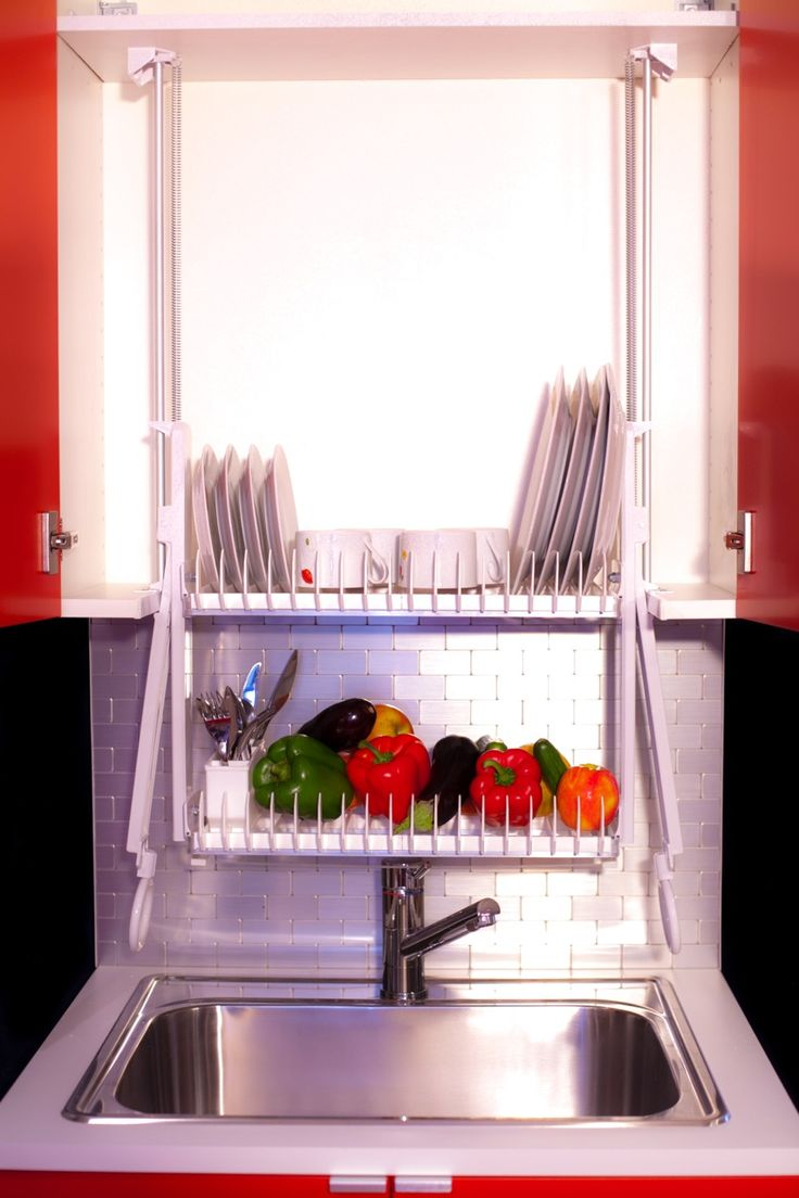 dripdry2 - Hide your dishrack in the cabinet with the Drip Dry