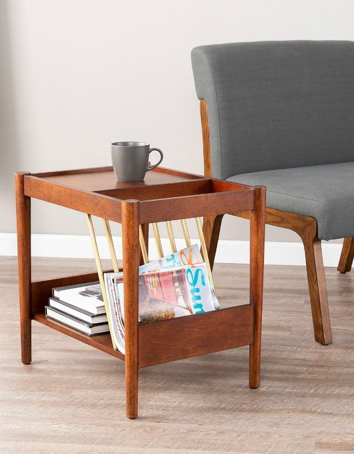 holly side table mgazine holder - 17 trendy coffee and side tables with integrated storage