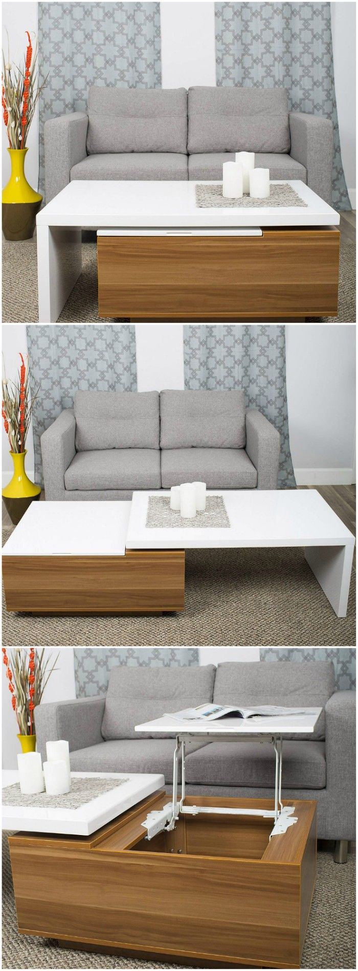 loft storage coffee table - 17 trendy coffee and side tables with integrated storage