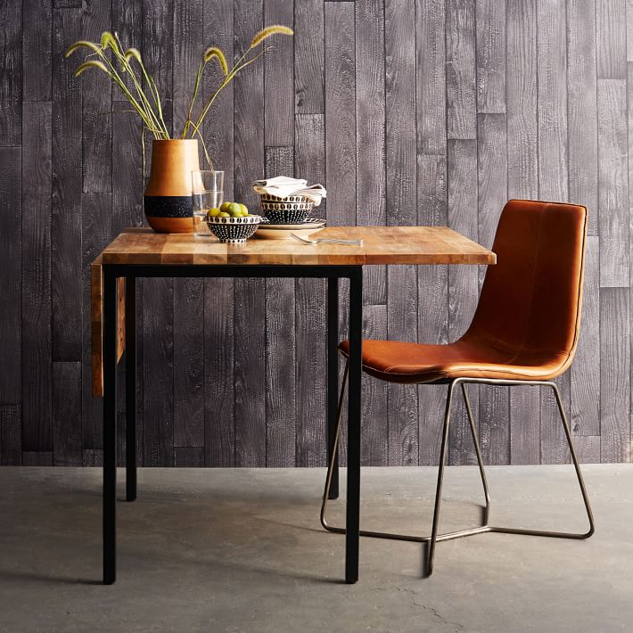Box Frame Drop Leaf Expandable Table ($349). Designed With Small Spaces In  Mind, The Box Frame Drop Leaf Table Doubles In Width When Its Two Side  Leafs Are ...