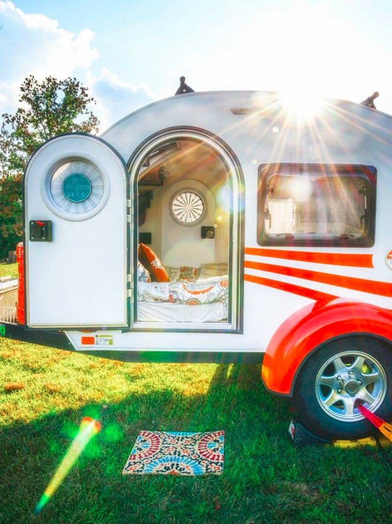 Mandy Lives Full Time In A Tiny Teardrop Trailer And Loves It Living In A Shoebox