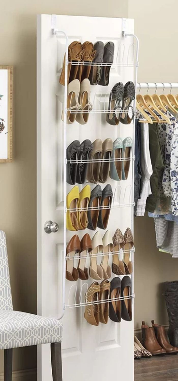 18PairOverdoorShoeOrganizer - 14 great ways to store your shoes