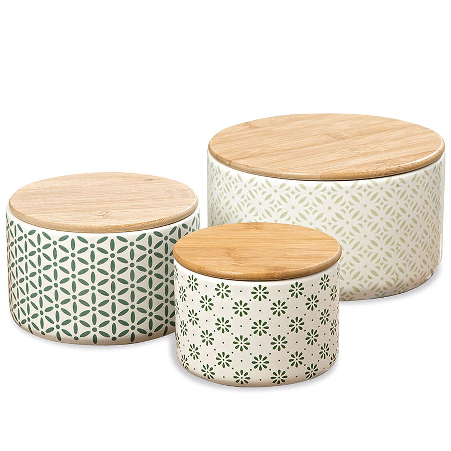 Find Them Here The Gastro Chic Ikat Kitchen Jars, Set Of 3, For Cookies,  Dry Goods