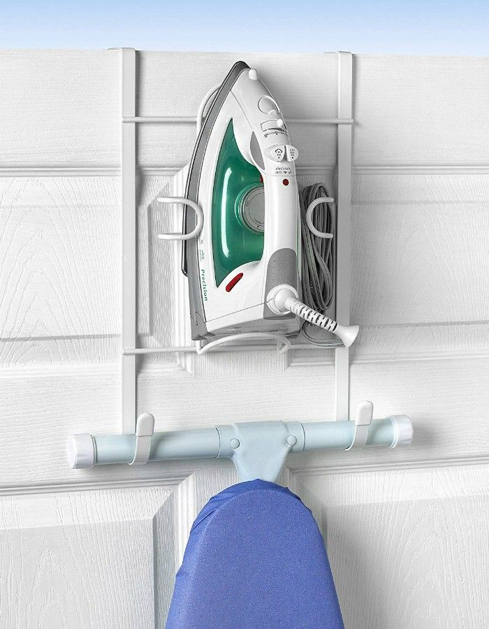 Over the Door Iron and Ironing Board Holder - 14 brilliant storage ideas for small spaces