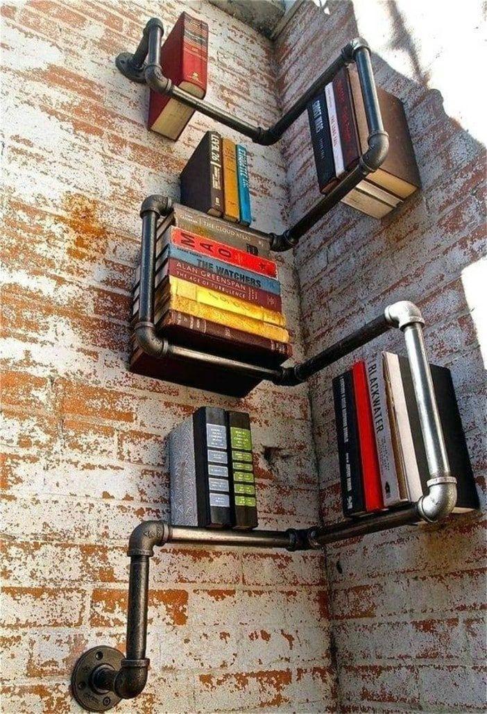 book shelf corner - 14 brilliant storage ideas for small spaces
