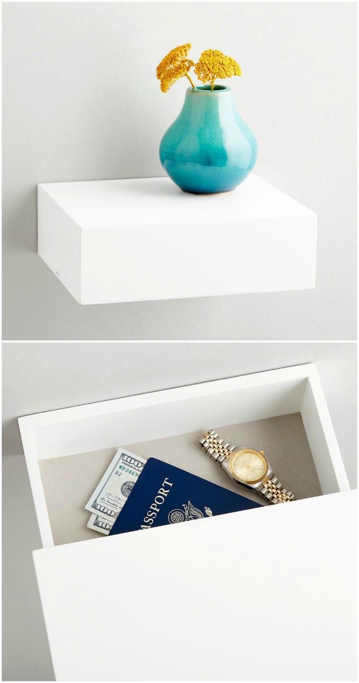 hidden storage drawer - 14 brilliant storage ideas for small spaces