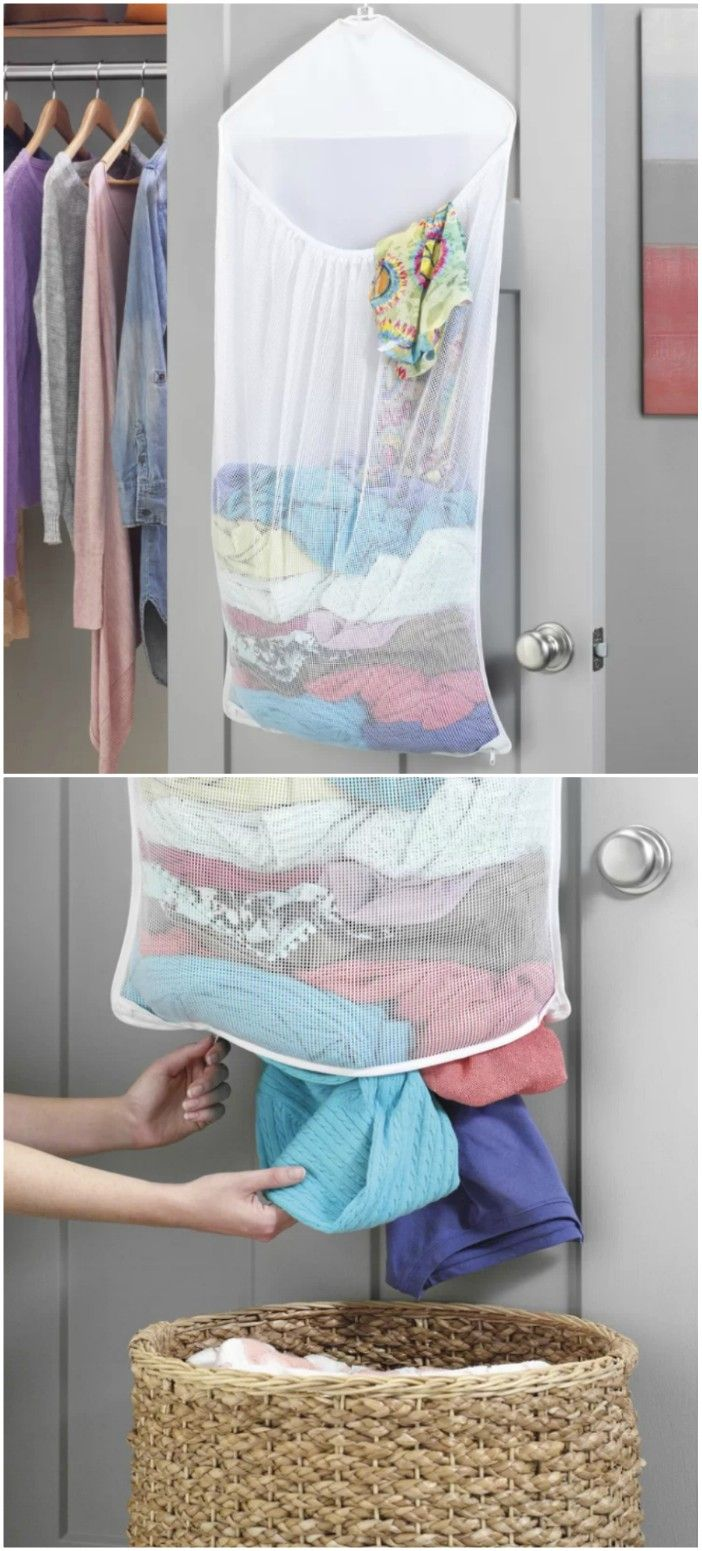 laundry over door - 14 brilliant storage ideas for small spaces