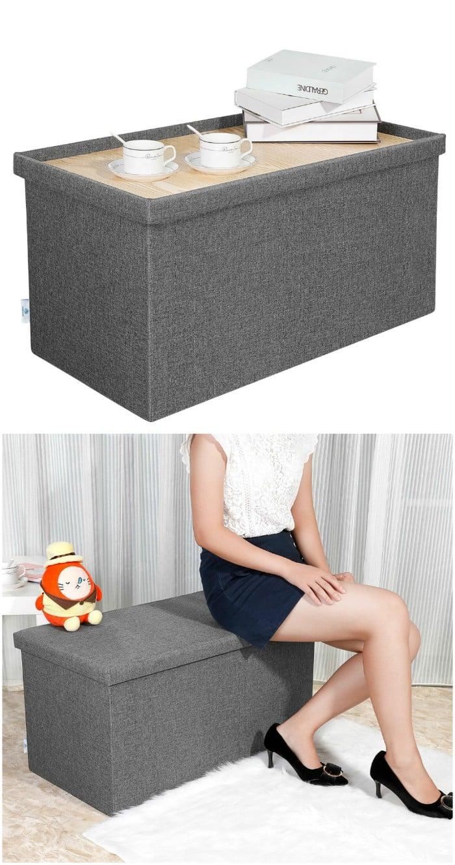 storage ottoman table tray - 14 brilliant storage ideas for small spaces