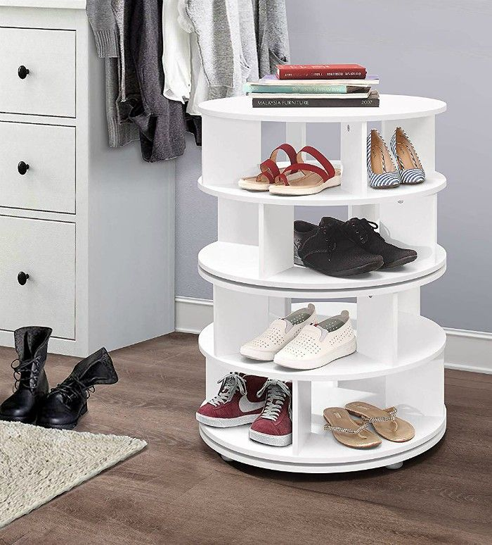 lazy susan shoe organizer - 14 great ways to store your shoes