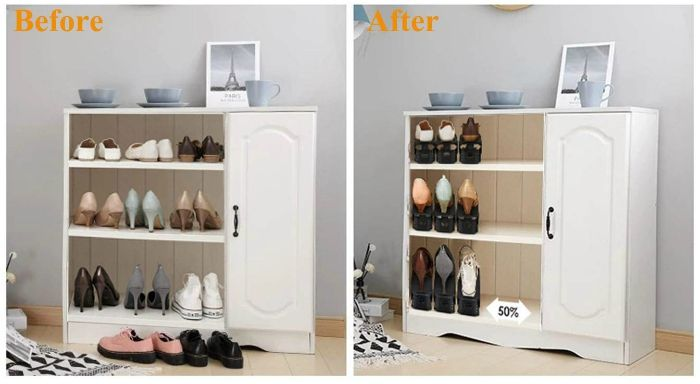 space saving shoe slots - 14 great ways to store your shoes
