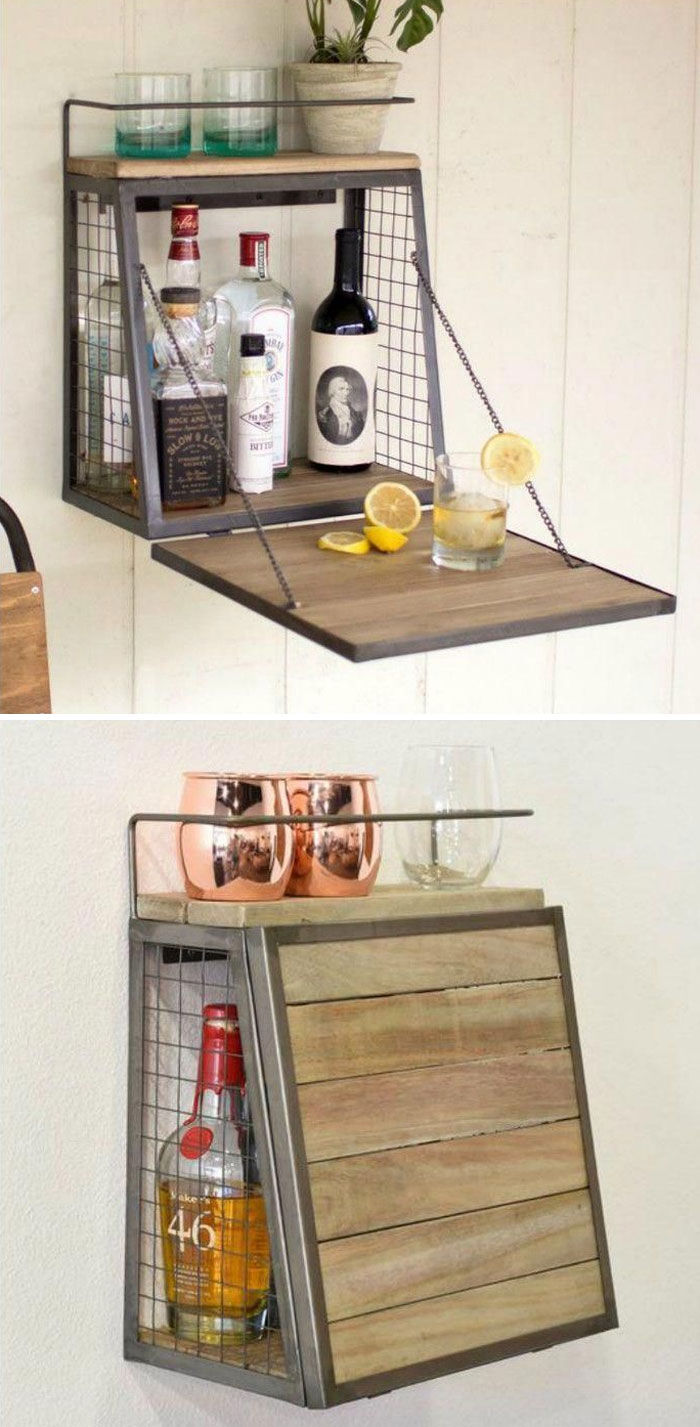 wall bar - 14 brilliant storage ideas for small spaces