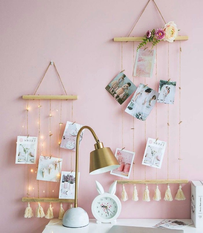 Macrame Wall Decor Wooden Wall Decor - These 20 photo display ideas will give your memories a stylish edge