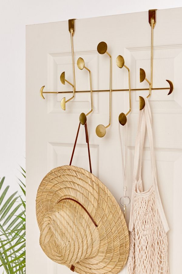 Moon Phase Metal Over The Door Multi Hook - 16 stylish coat hooks that double as wall décor