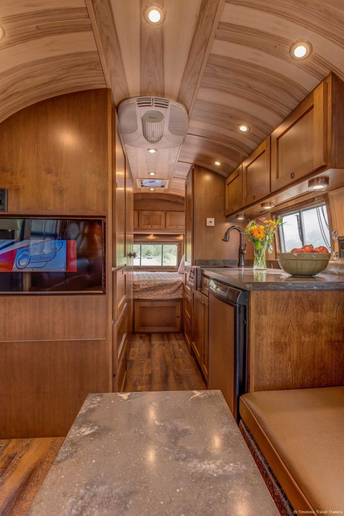 Virginia Airstream by Timeless Travel Trailers 10 - All class aboard this renovated 1953 Airstream Flying Cloud