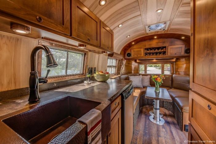 Virginia Airstream by Timeless Travel Trailers 5 - All class aboard this renovated 1953 Airstream Flying Cloud