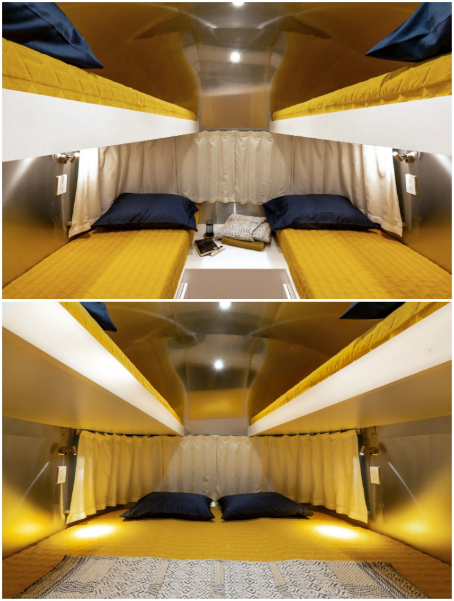 airstream - Customized Airstream camper fits seven with room to spare for pop-up bar and entertainment area