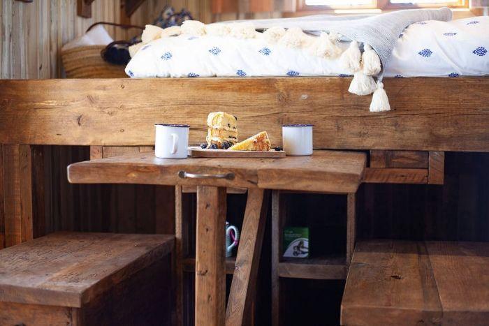 dunmore shepherds hut at huts in the hills in northumberland 1024 wide - Charming shepherd's hut boasts an ingenious bed with built-in dining table