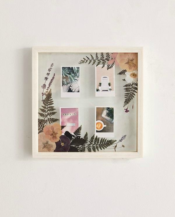 flower frame - These 20 photo display ideas will give your memories a stylish edge
