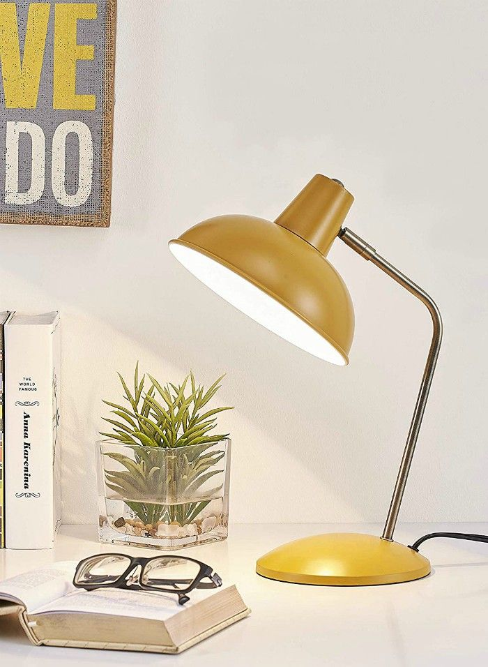 mustard yellow lamp - 18 stylish desk lamps that will brighten your home office