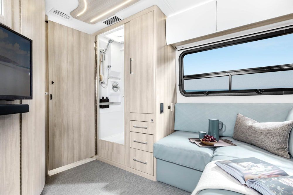 sprinter camper %C2%A84 - New campervan from Leisure Vans boasts space-saving murphy bed and two living areas