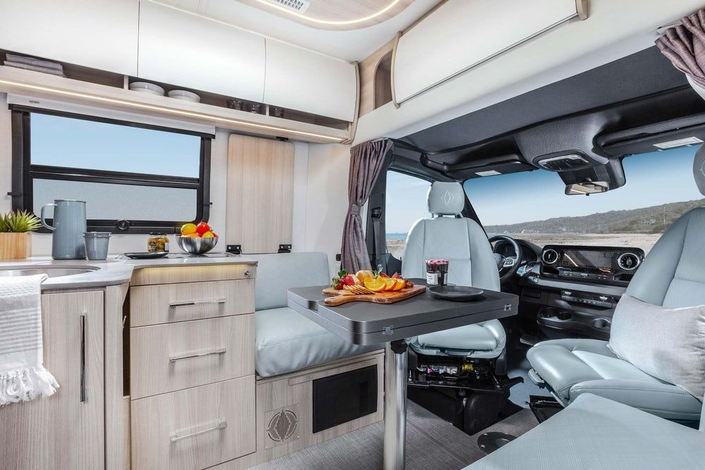 sprinter camper 12 - New campervan from Leisure Vans boasts space-saving murphy bed and two living areas