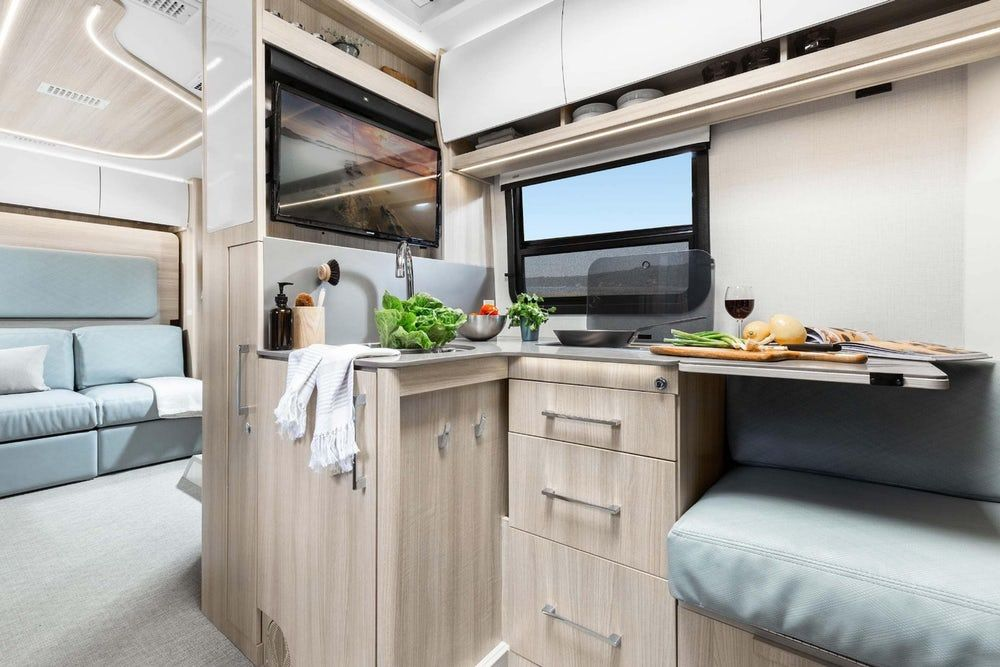 sprinter camper 2 - New campervan from Leisure Vans boasts space-saving murphy bed and two living areas