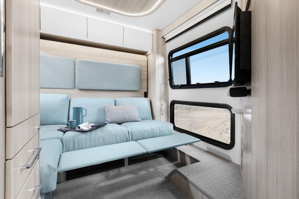 sprinter camper 3 - New campervan from Leisure Vans boasts space-saving murphy bed and two living areas