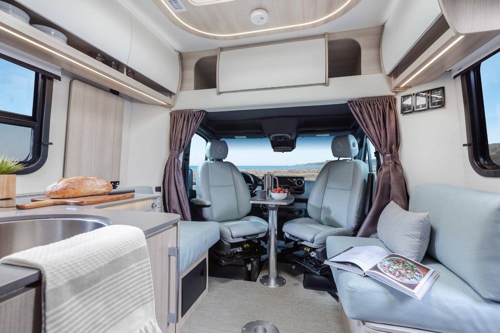sprinter camper 6 - New campervan from Leisure Vans boasts space-saving murphy bed and two living areas