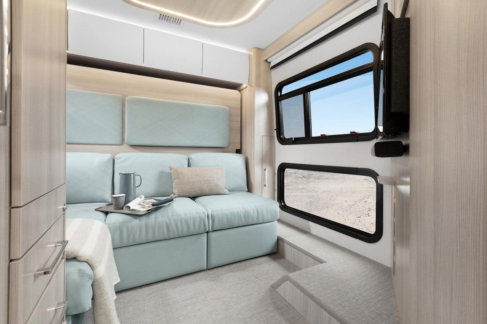 sprinter camper 8 - New campervan from Leisure Vans boasts space-saving murphy bed and two living areas